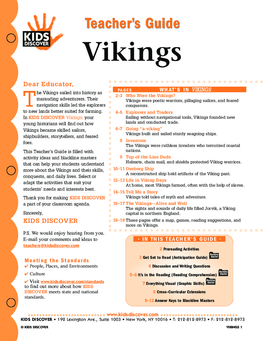 Vikings Kids Discover