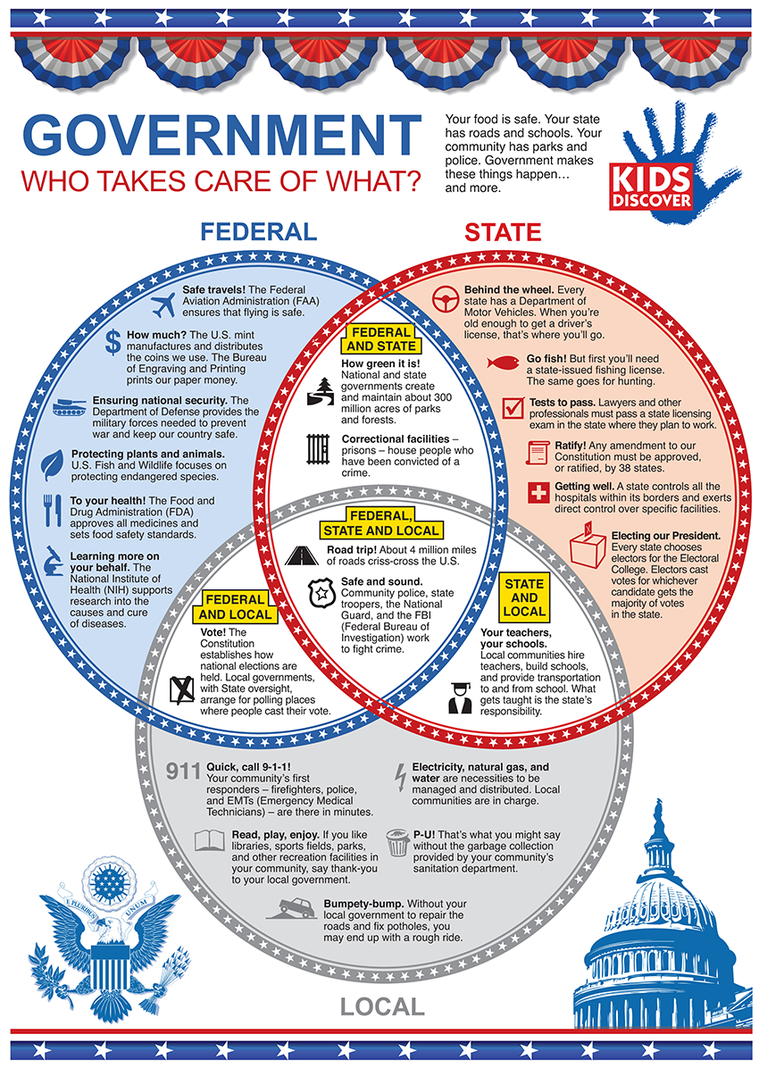 kids three branches government poster